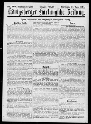 Königsberger Hartungsche Zeitung vom 24.06.1914