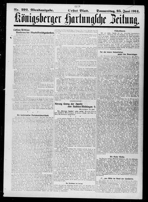 Königsberger Hartungsche Zeitung vom 25.06.1914