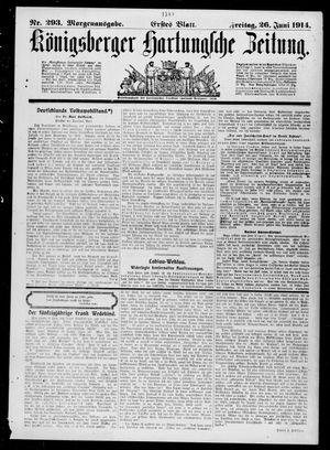 Königsberger Hartungsche Zeitung vom 26.06.1914