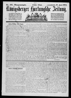 Königsberger Hartungsche Zeitung vom 27.06.1914