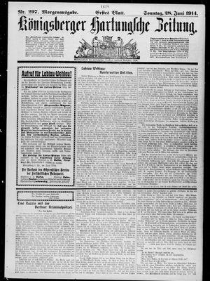 Königsberger Hartungsche Zeitung vom 28.06.1914