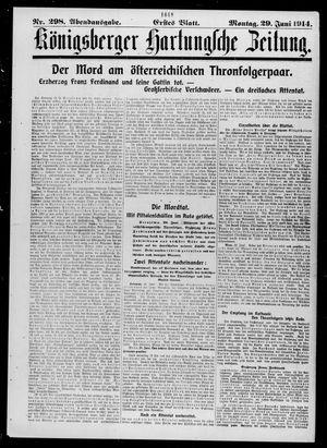 Königsberger Hartungsche Zeitung on Jun 29, 1914
