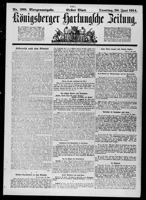 Königsberger Hartungsche Zeitung vom 30.06.1914