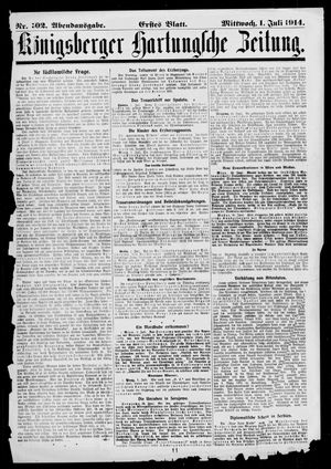 Königsberger Hartungsche Zeitung vom 01.07.1914