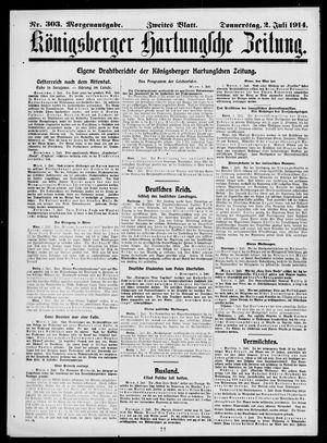 Königsberger Hartungsche Zeitung on Jul 2, 1914