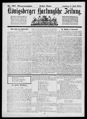 Königsberger Hartungsche Zeitung vom 03.07.1914