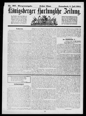 Königsberger Hartungsche Zeitung vom 04.07.1914