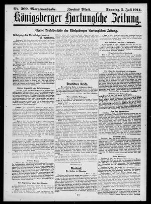 Königsberger Hartungsche Zeitung vom 05.07.1914