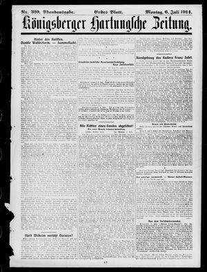 Königsberger Hartungsche Zeitung vom 06.07.1914