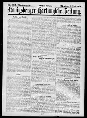 Königsberger Hartungsche Zeitung vom 07.07.1914