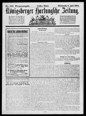Königsberger Hartungsche Zeitung vom 08.07.1914