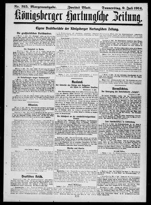 Königsberger Hartungsche Zeitung on Jul 9, 1914