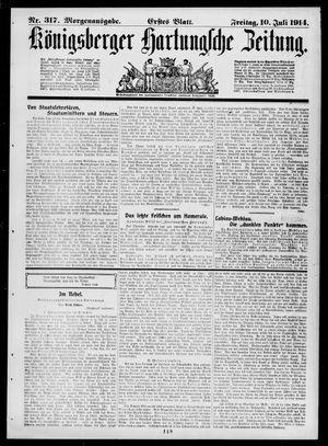 Königsberger Hartungsche Zeitung vom 10.07.1914