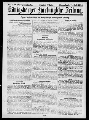 Königsberger Hartungsche Zeitung vom 11.07.1914