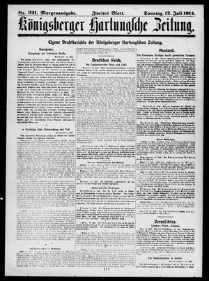 Königsberger Hartungsche Zeitung vom 12.07.1914