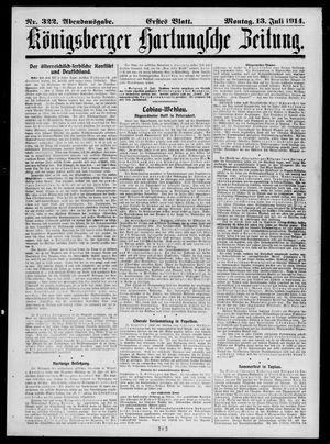 Königsberger Hartungsche Zeitung vom 13.07.1914