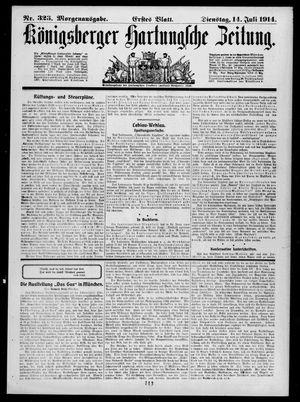 Königsberger Hartungsche Zeitung vom 14.07.1914