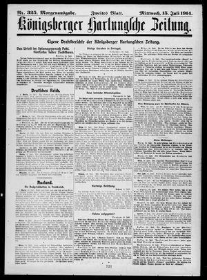 Königsberger Hartungsche Zeitung vom 15.07.1914