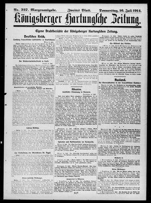 Königsberger Hartungsche Zeitung vom 16.07.1914