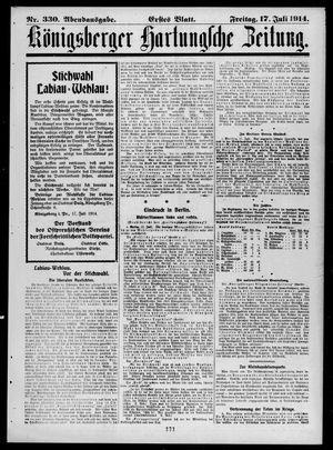 Königsberger Hartungsche Zeitung vom 17.07.1914