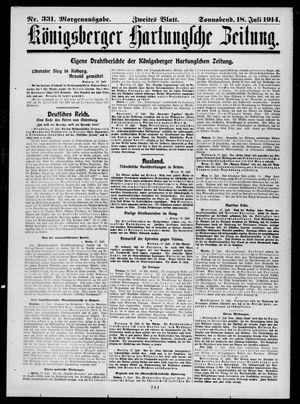 Königsberger Hartungsche Zeitung vom 18.07.1914