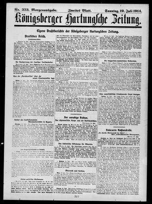 Königsberger Hartungsche Zeitung vom 19.07.1914