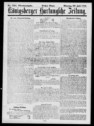Königsberger Hartungsche Zeitung vom 20.07.1914