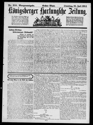 Königsberger Hartungsche Zeitung vom 21.07.1914