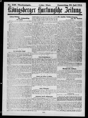 Königsberger Hartungsche Zeitung vom 23.07.1914