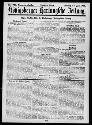 Königsberger Hartungsche Zeitung vom 24.07.1914