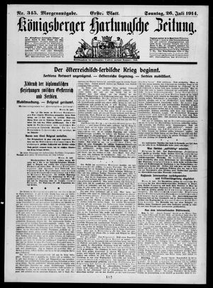 Königsberger Hartungsche Zeitung vom 26.07.1914