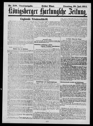 Königsberger Hartungsche Zeitung vom 28.07.1914