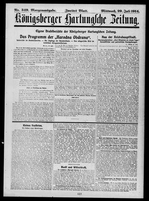 Königsberger Hartungsche Zeitung vom 29.07.1914