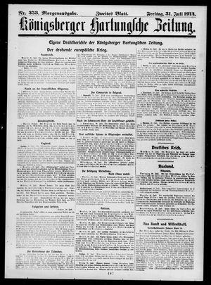 Königsberger Hartungsche Zeitung vom 31.07.1914