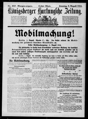 Königsberger Hartungsche Zeitung on Aug 2, 1914