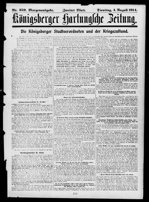 Königsberger Hartungsche Zeitung vom 04.08.1914