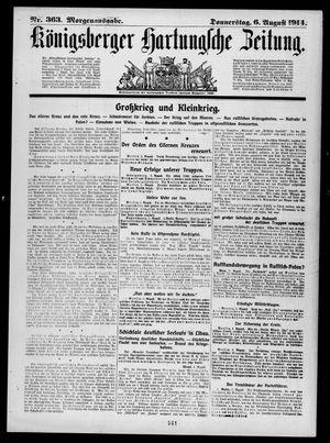 Königsberger Hartungsche Zeitung vom 06.08.1914
