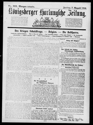 Königsberger Hartungsche Zeitung on Aug 7, 1914