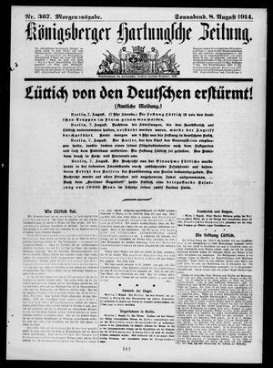 Königsberger Hartungsche Zeitung vom 08.08.1914