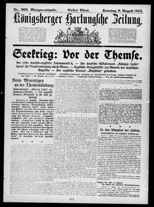 Königsberger Hartungsche Zeitung vom 09.08.1914