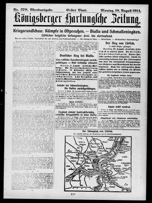 Königsberger Hartungsche Zeitung vom 10.08.1914