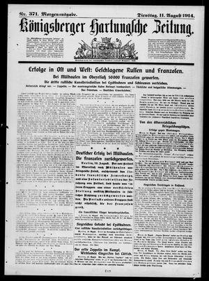 Königsberger Hartungsche Zeitung vom 11.08.1914