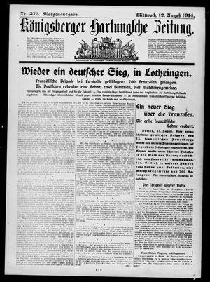 Königsberger Hartungsche Zeitung vom 12.08.1914