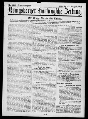 Königsberger Hartungsche Zeitung vom 17.08.1914