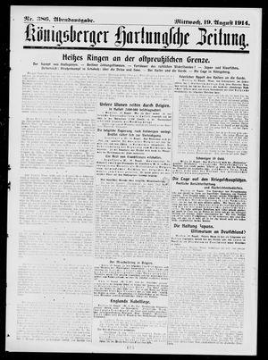 Königsberger Hartungsche Zeitung vom 19.08.1914