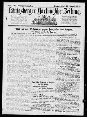 Königsberger Hartungsche Zeitung vom 20.08.1914