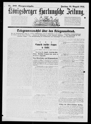 Königsberger Hartungsche Zeitung vom 21.08.1914