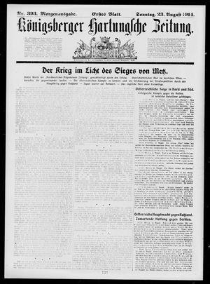 Königsberger Hartungsche Zeitung vom 23.08.1914