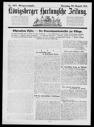 Königsberger Hartungsche Zeitung vom 25.08.1914