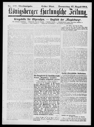 Königsberger Hartungsche Zeitung vom 27.08.1914